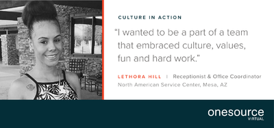 Culture in Action - OSV Employee Profile: Lethora Hill