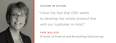 Culture in Action - OSV Employee Profile: Pam Walker